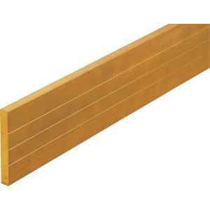 階段 廊下 マツ六 BAUHAUS 木製ベースプレート120mm幅(片面ライン入り) Mオーク 4m BH-444|joule-plus