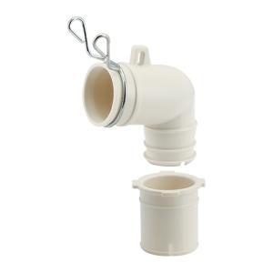 排水器具 エルボ 洗濯機用 カクダイ 洗濯機トラップ用エルボ 437-202