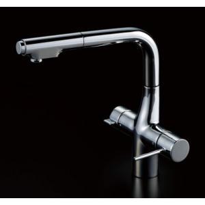 クリナップ ZZKM6381EC スタイリッシュ水栓Efine(エフィーネ)クロムメッキ(浄水器兼用タイプ) ▼浄水器 一般地用 [納期約2週間] jousuiki
