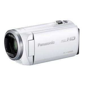 パナソニック デジタルハイビジョンカメラ HC-V480MS-W 32GB ホワイト