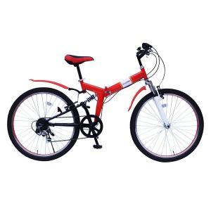 自転車 26インチ折りたたみ自転車 6段ギア FIELD CHAMP MTB266SE|jowaoutlet