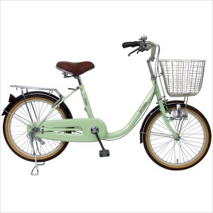 期間限定 送料無料 C.Dream ヴェロアミニ 20インチ 変速なし LEDオートライト付 激安価格 婦人自転車 シティサイクル ママチャリ VL01|joy