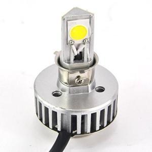 cooplay バイクライト LEDヘッドライト シルバー H4/HB2対応 2100ルーメン 24W DC6V-36V 6000k 三面発光 CREE COB オートバイ 二輪用 joyacom