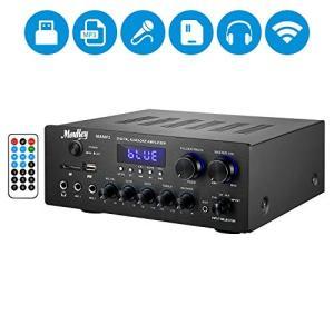 Moukey パワーアンプ システム 220W BT対応 SD、AUX、MIC IN/エコー、LCD...