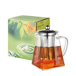 Pluiesoleil ティーポット 耐熱ガラス 700ML茶器 花茶 紅茶  ティーパーティに大活...