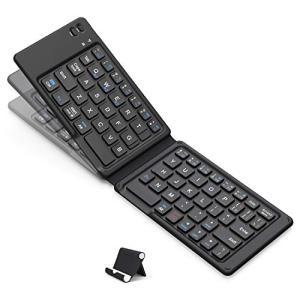 iClever Bluetoothキーボード 折りたたみ式 軽量 薄型 ワイヤレス ブルートゥース ...