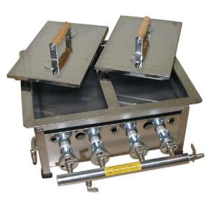 (山下金物餃子焼き器)天然ガス用 小(2枚蓋) (送料無料)|joycooking