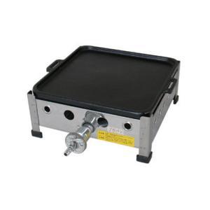 (山下金物家庭用鉄板焼き器)天然ガス用 H-300 鉄板寸法 300 x 300mm 鉄鋳物製、四方フチ付 (送料無料)|joycooking