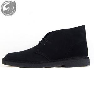 CLARKS  DESERTBOOT  BLACK SUEDE  26138227  クラークス  デザートブーツ  ブラック スエード  メンズ  【並行輸入品】|joyfoot