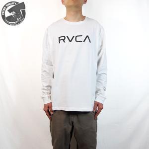 ルーカ  ビック ルーカ ロングスリーブ ティーシャツ メンズ RVCA  BIG RVCA L/S TEE  WHITE joyfoot