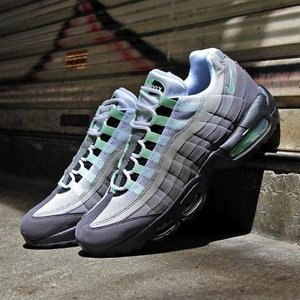 エアマックス 95 メンズ スニーカー NIKE AIR MAX 95 WHITE/FRESH MINT-GRANITE-DUST|joyfoot