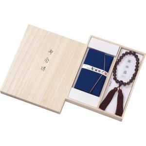 男性用京念珠 茶水晶京念珠&念珠袋セット 401-1505 joyfulgame