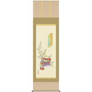 送料無料 雛祭り 桃の節句 掛け軸 立雛 (洛彩緞子本表装・尺五) 香山緑翠 (洛友会) 52F1-066 joyfulgame
