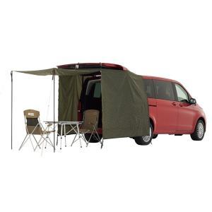 即納 車体後方に取付け LOGOS ロゴス ミニバン専用 リビングスペース タープ テント 着替え 車中泊 タープ 71805056|joyfulgame