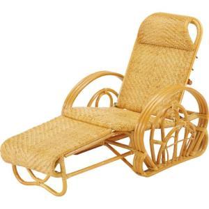 三つ折寝椅子 今枝商店 籐 ラタン 三つ折 リクライニング寝椅子 A100 A-100|joyfulgame
