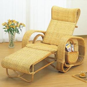 三つ折/寝椅子/リクライニング/籐デラックス三ツ折寝椅子 A107 A-107|joyfulgame