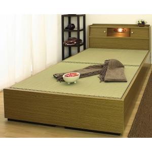 本い草の香りが爽やかな畳ベッド。 棚照明引出し付きの充実装備で使い勝手も良いです。 安心の日本製で末...