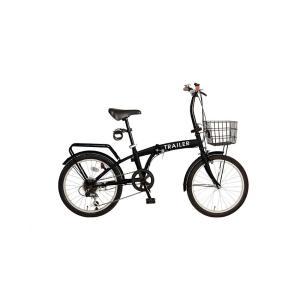 BGC-F20-BK TRAILER  20インチ 折りたたみ自転車 シマノ6段変速  ブラック BGC-F20|joyfulgame