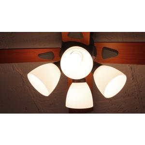 4灯ライト  シーリングファン 4L リモコン付き 白熱電球・電球型蛍光ランプ対応 ブラック BIG-101|joyfulgame