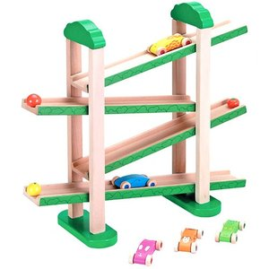 Ed.inter エドインター 森の運動会 ボール転がし スロープ 車 木のおもちゃ 知育玩具 出産祝い 806449 E20-215-03|joyfulgame