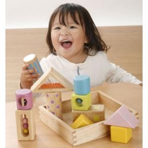 Ed.inter エドインター 音いっぱいつみき 積み木 木のおもちゃ 音が鳴ります 知育玩具 出産祝い 806371 E20-215-05|joyfulgame