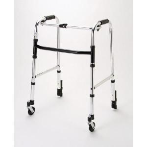 マキテック アルミ歩行器 (固定型・前輪自在キャスター付き) 歩行練習 リハビリ 歩行用品  介護用歩行器 固定型歩行器 HK-120|joyfulgame
