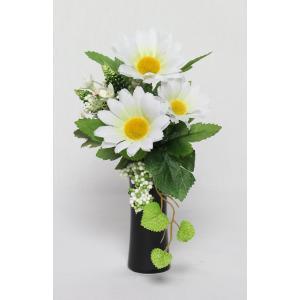 造花 お供花 仏花 お供え花 仏壇花 お仏壇用に アレンジ花 1本 花器付き K-1108 水上約12cm joyfulgame