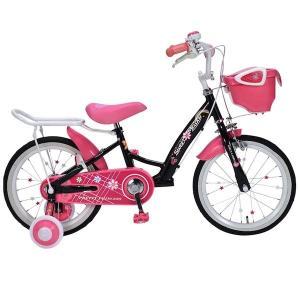 元気で上品な女の子に 補助輪付き 子供用自転車 16インチ ジュニア 子供自転車 MyPallas マイパラス MD-12 ブラック色|joyfulgame