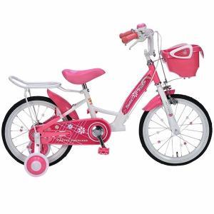 元気で上品な女の子に 補助輪付き 子供用自転車 16インチ ジュニア 子供自転車 MyPallas マイパラス MD-12 ピンク色|joyfulgame