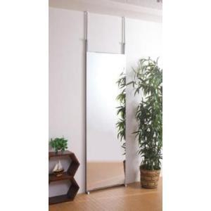 壁面ミラー 幅60cm 日本製 突っ張り つっぱり式 鏡 姿見 スタンドミラー NJ-0007|joyfulgame