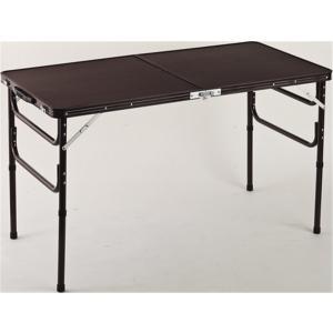 幅90センチ 高さ2段階調節 木目調アルミ折りたたみテーブル    T-0330 joyfulgame