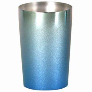 送料無料 チタン製 二重 ビア タンブラー プレミアム ライト ブルー T-09-CK02|joyfulgame