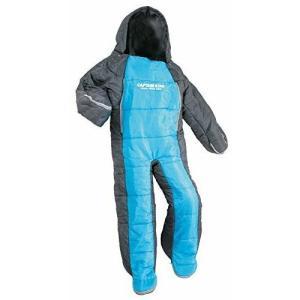 子供用 寝袋 140cm ヒューマノイド スリーピングバック CAPTAINSTAG キャプテンスタッグ 洗える 人型 寝袋 シュラフ (ブルーxグレー) UB-12|joyfulgame