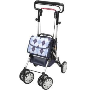 自立歩行が可能な方の歩行補助 折りたたみ式 座れる 歩行器 シルバーカー ウイングライト  (ユーバ産業) WL-0248  ブルー色|joyfulgame
