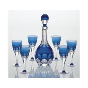 カガミクリスタル ロイヤルブルー ワインセット WS210-72CCB|joyfulgame