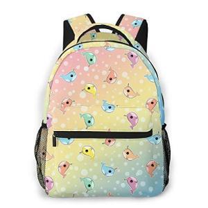 Fashion Cute Rainbow Dot Fat Narwhal Casual Bookba...