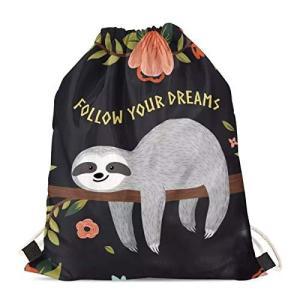 INSTANTARTS Follow Your Dreams Print Gym Bag Sloth...