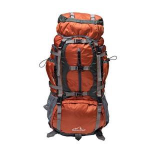 アメリカのアウトバック氷河内部フレームハイキングのバックパックオレンジ