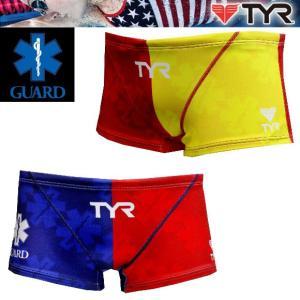 TYR ライフガード用 ライフセーバー 競泳水着 メンズ 練習用水着 BGARD-17S ボクサーパンツ トレーニング用水着|joyfulsports