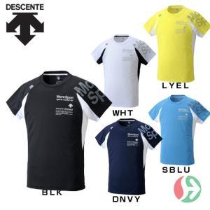ポイント5倍 (トレーニングウェア メンズ)デサント(DESCENTE)ハーフスリーブシャツ DAT-5710(ランニング)|joyfulsports
