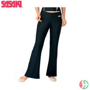 [クーポンでお得](新体操 レディース) ササキ(SASAKI) ブーツカットパンツ(スリム) SG123 (取寄)