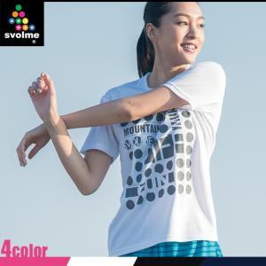 (ポイント10倍)(ランニングウェア メンズ レディース)スボルメ(SVOLME) ドットメッセージランシャツ Tシャツ 171-30800 (スポーツ ウエア)|joyfulsports