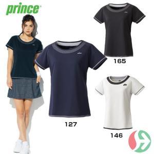 セール!(テニスウェア レディース)プリンス(Prince) レディスゲームシャツ WL7055(テニス レディースウエア)|joyfulsports
