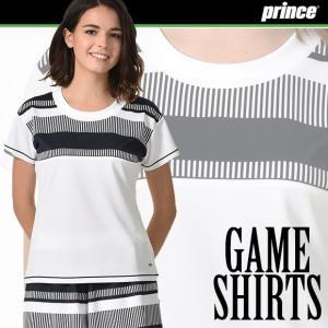 (送料無料)(テニスウェア レディース) プリンス(Prince) ゲームシャツ WL7077|joyfulsports