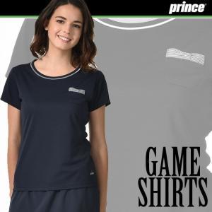 (送料無料)(テニスウェア レディース) プリンス(Prince) ゲームシャツ WL7078|joyfulsports