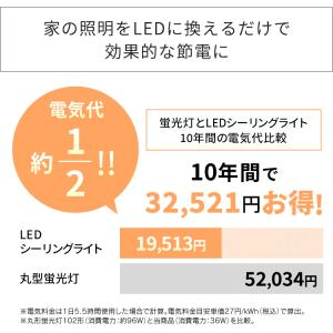 LED シーリングライト 8畳 調光 アイリスオーヤマ 2個セット CL8D-5.0|joylight|10