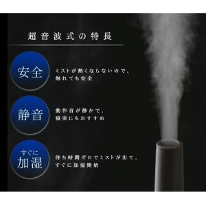 加湿器 超音波加湿器 乾燥 インテリア おしゃれ オフィス LEDライトチムニー型 木目調 UHM-280CM-T アイリスオーヤマ|joylight|08