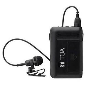 ワイヤレスマイク タイピン型 ダークグレー マイク 声 拡大  WM-1320 TOA|joylight