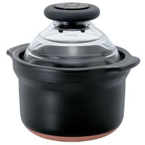 フタがガラスのご飯釜 お米 ごはん 米 硝子 1合専用 ブラック GNN-150B HARIO (D)|joylight