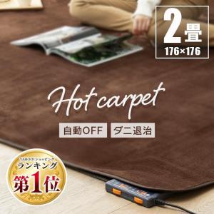 ホットカーペット 本体 2畳 カーペット 電気カーペット  暖房 ダニ退治 折り畳み 正方形 暖房面積切替 TWA-2000BI TEKNOS (あすつく)|joylight